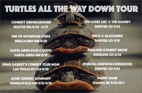 Turtles all the way down tour photo